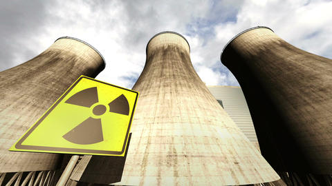 Nuclear Station Cooling Towers Timelapse v2 11 Stock Video Footage