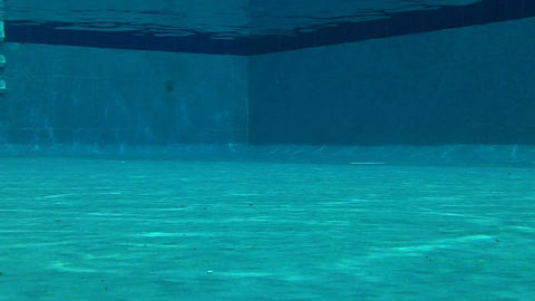 Outdoor Swimming Pool Underwater 01 Footage