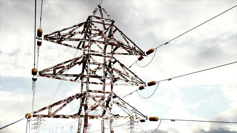 Rusty Electric Poles Timelapse 04 Animation