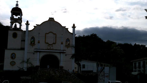 Small Mexican Town in Oaxaca 06 church Stock Video Footage