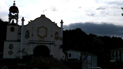 Small Mexican Town in Oaxaca 06 church Footage