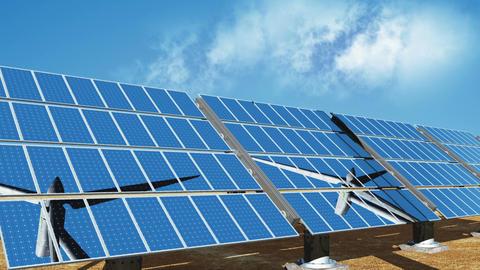 Solar Panels and Wind Turbines 01 Stock Video Footage