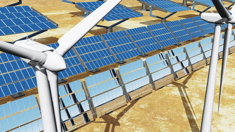 Solar Panels and Wind Turbines 07 Animation