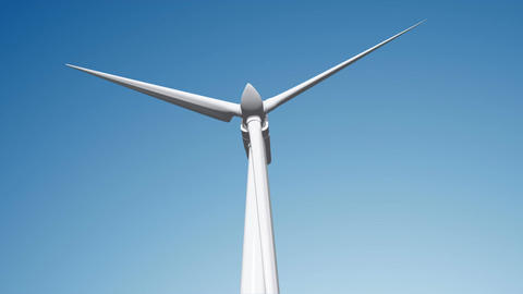 Wind Turbine 02 loop Stock Video Footage