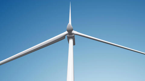 Wind Turbine 02 loop Animation