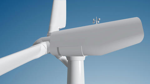 Wind Turbine 04 loop Animation