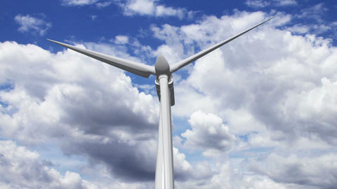 Wind Turbine Timelapse 01 Animation