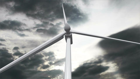 Wind Turbine Timelapse 03 Stock Video Footage