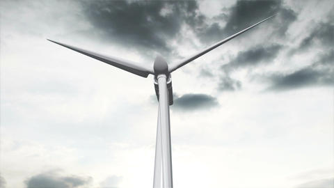 Wind Turbine Timelapse 03 Animation