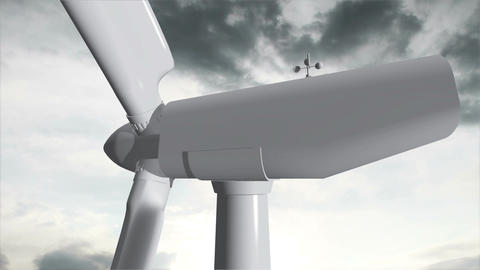 Wind Turbine Timelapse 07 Animation