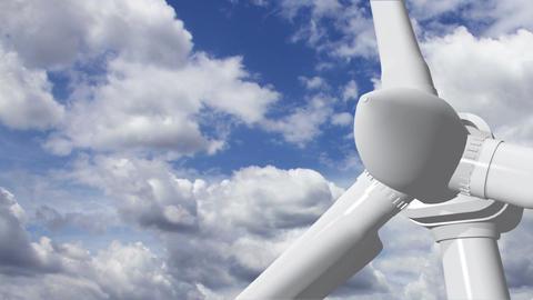 Wind Turbine Timelapse 09 Stock Video Footage