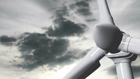 Wind Turbine Timelapse 11 Stock Video Footage