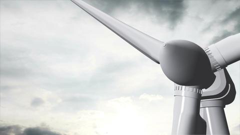 Wind Turbine Timelapse 11 Stock Video Footage