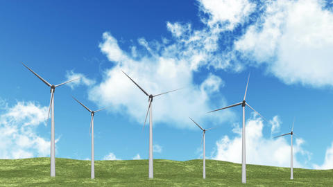 Wind Turbines 01 Animation