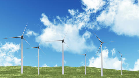 Wind Turbines 01 Stock Video Footage