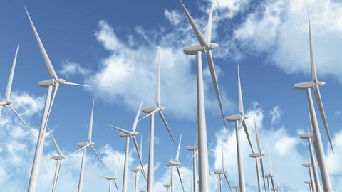 Wind Turbines 03 Stock Video Footage