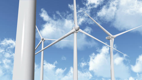 Wind Turbines 05 Stock Video Footage