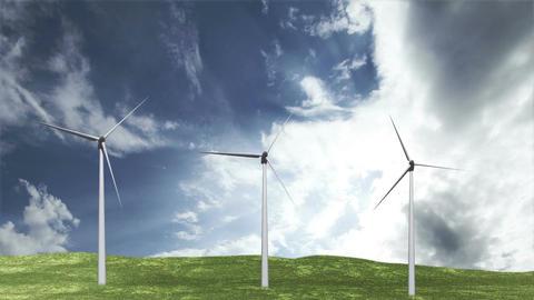 Wind Turbines Timelapse 06 Stock Video Footage