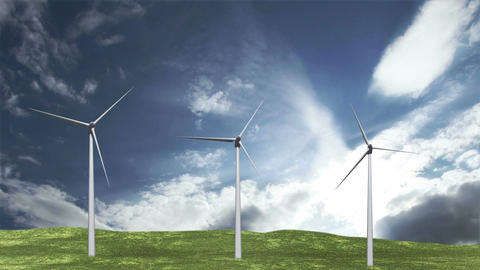 Wind Turbines Timelapse 06 Animation