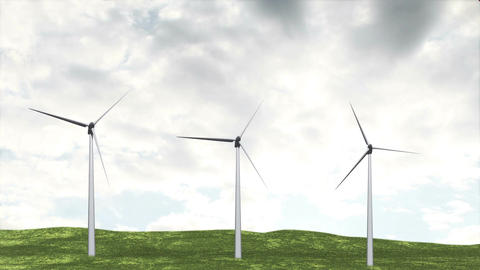 Wind Turbines Timelapse 08 Animation