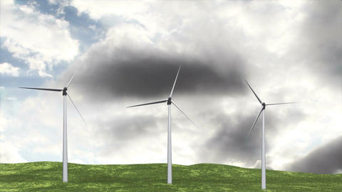 Wind Turbines Timelapse 08 Stock Video Footage