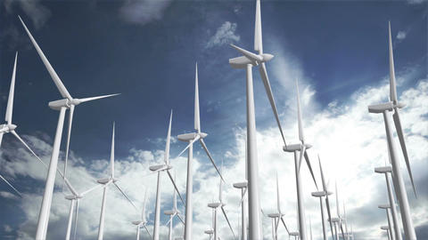 Wind Turbines Timelapse 10 Animation