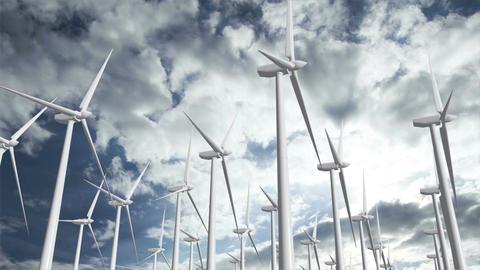 Wind Turbines Timelapse 10 Stock Video Footage