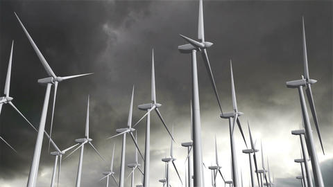 Wind Turbines Timelapse 12 Stock Video Footage