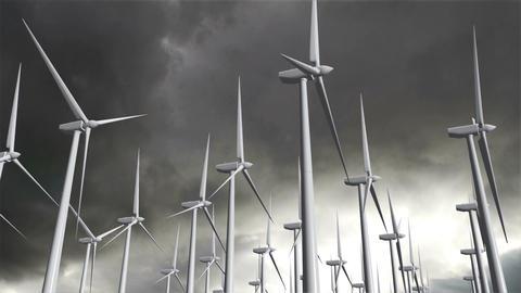 Wind Turbines Timelapse 12 Stock Video Footage