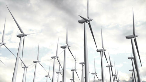 Wind Turbines Timelapse 12 Animation