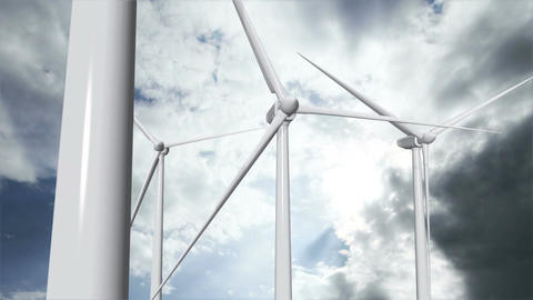 Wind Turbines Timelapse 14 Stock Video Footage