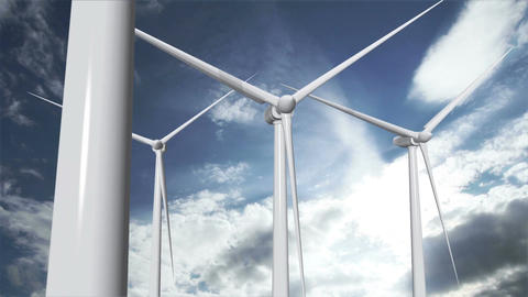 Wind Turbines Timelapse 14 Animation