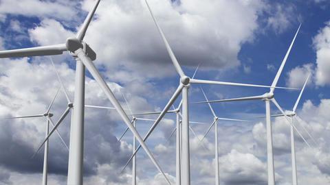 Wind Turbines Timelapse 17 Stock Video Footage