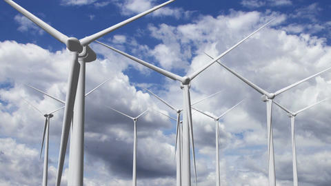Wind Turbines Timelapse 17 Animation