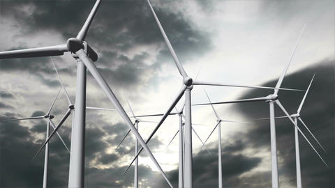 Wind Turbines Timelapse 19 Stock Video Footage