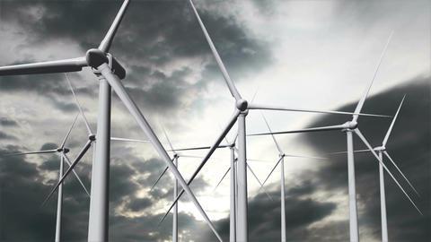 Wind Turbines Timelapse 19 Stock Video Footage