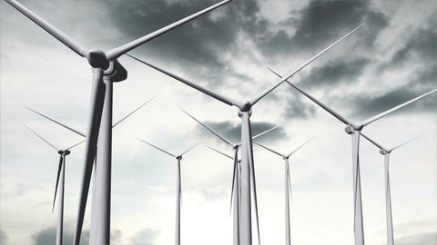 Wind Turbines Timelapse 19 Animation
