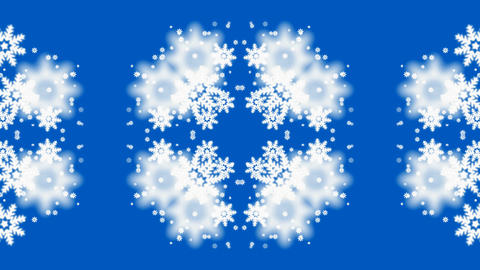 falling snowflake shaped flower... Stock Video Footage