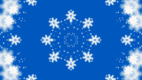 falling snowflake shaped flower pattern,chrismas,xmas,lace,wedding background.fresh,clean,crystalliz Animation