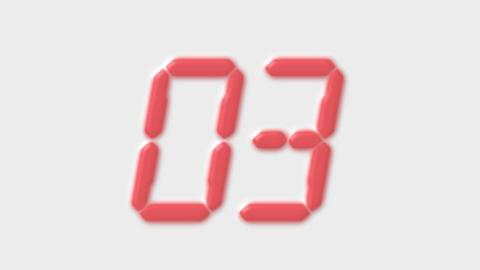 Timer,hour meter,gray plastic numbers,film... Stock Video Footage