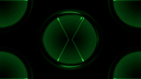 green circle,round,navigation light.... Stock Video Footage