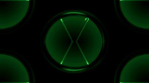green circle,round,navigation light.... Stock Video Footage
