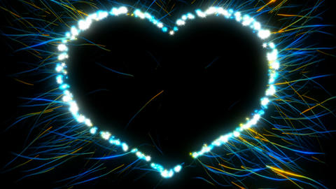 St. Valentine\'s Day heart shape and sparkles. Alpha channel is included Animation