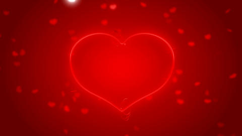 Red St. Valentine\'s Day heart shape and sparkles with... Stock Video Footage