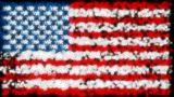 Loopable Glittering And Sparkling USA Flag stock footage