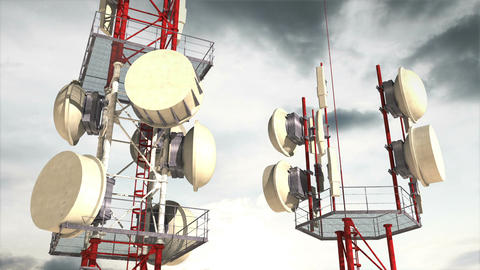 Antennas Clouds Timelapse 03 Animation