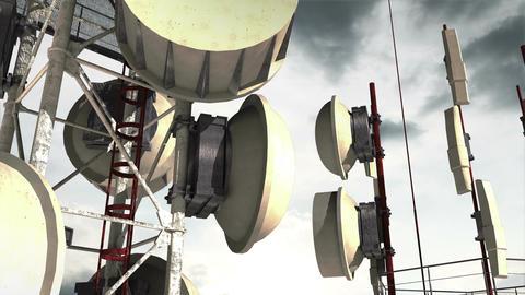 Antennas Clouds Timelapse 07 Animation