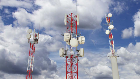Antennas Clouds Timelapse 09 Stock Video Footage