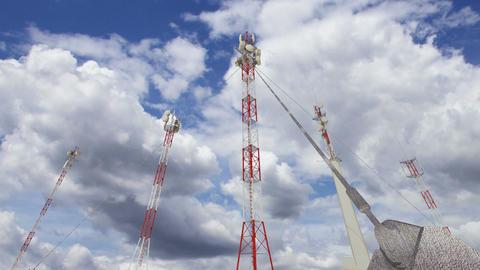 Antennas Clouds Timelapse 13 Animation