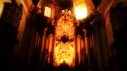 Church Inside 04 Stock Video Footage